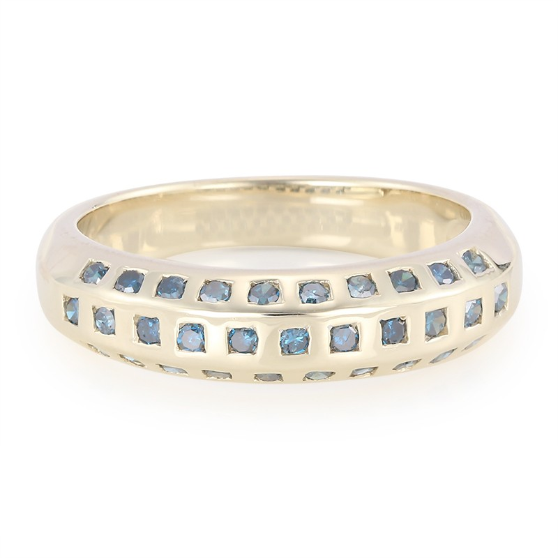 Anello In Oro Con Diamanti Blu Juwelo Reali