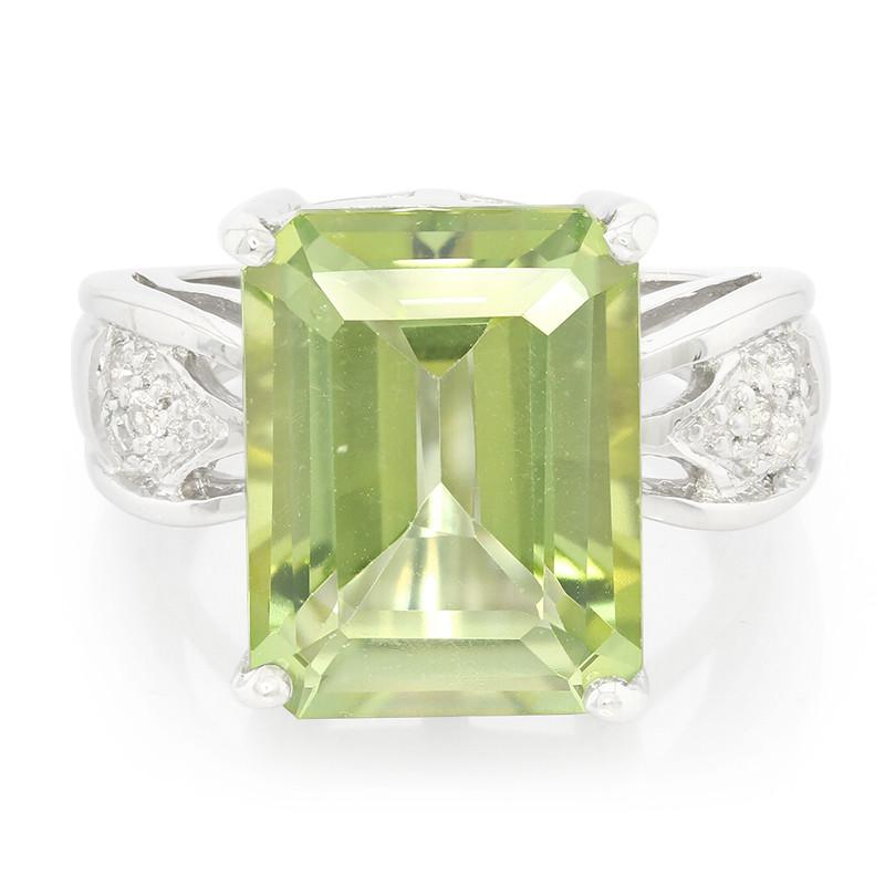 Nieuwe Stijlen Goedkope Prijs Juwelo Zilveren ring met een kiwi-topaas Kopen Goedkope Uitstekend Snelle Bezorging Klaring Kosten ukZr441