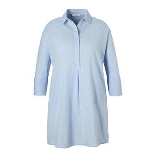gestreepte blousejurk lichtblauw (dames)