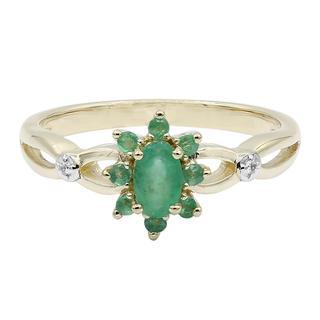 Gouden ring met een smaragd