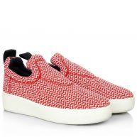 Celine Sneakers - Pull On Sneaker Red in rood van textiel voor dames