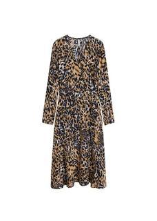 Midi-jurk met luipaardprint