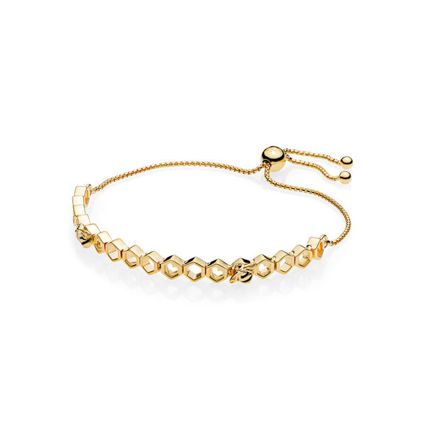 OjQgC3hrmT Honeybee Armband, Armband, Zwart, 567109EN16-2