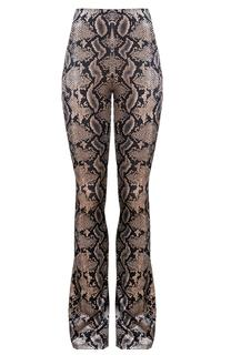 Slangenprint Flared Broek
