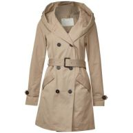 Trenchcoat met capuchon - dusty sand