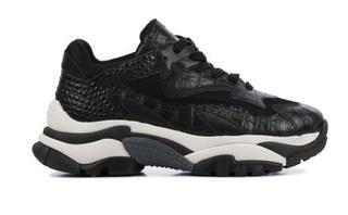 Dames Sneakers in Leder (Zwart)