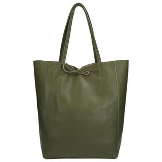 Leather Collection shopper green