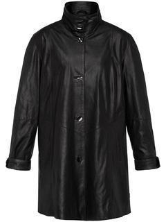 Leren jas van geitennappaleer zwart