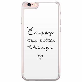 iPhone 6(s) Plus siliconen hoesje - Enjoy life