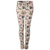 Maison Scotch Skinny Fit Pants With Botanical Prints