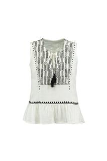 Dames Mouwloze blouse met embroidery