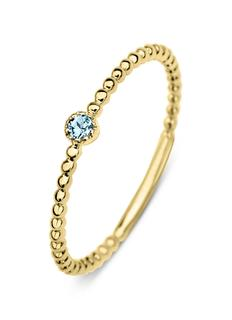 Geelgouden ring 0.04 ct topaas Joy