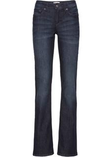 Dames stretch jeans, bootcut in blauw