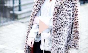 Zo draag je een jas met panterprint