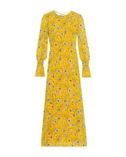 Chiffon Midi Dress Sun Yellow