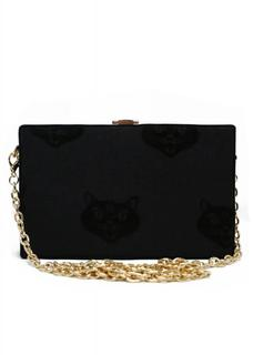 Mimi Cat Clutch Tas Zwart
