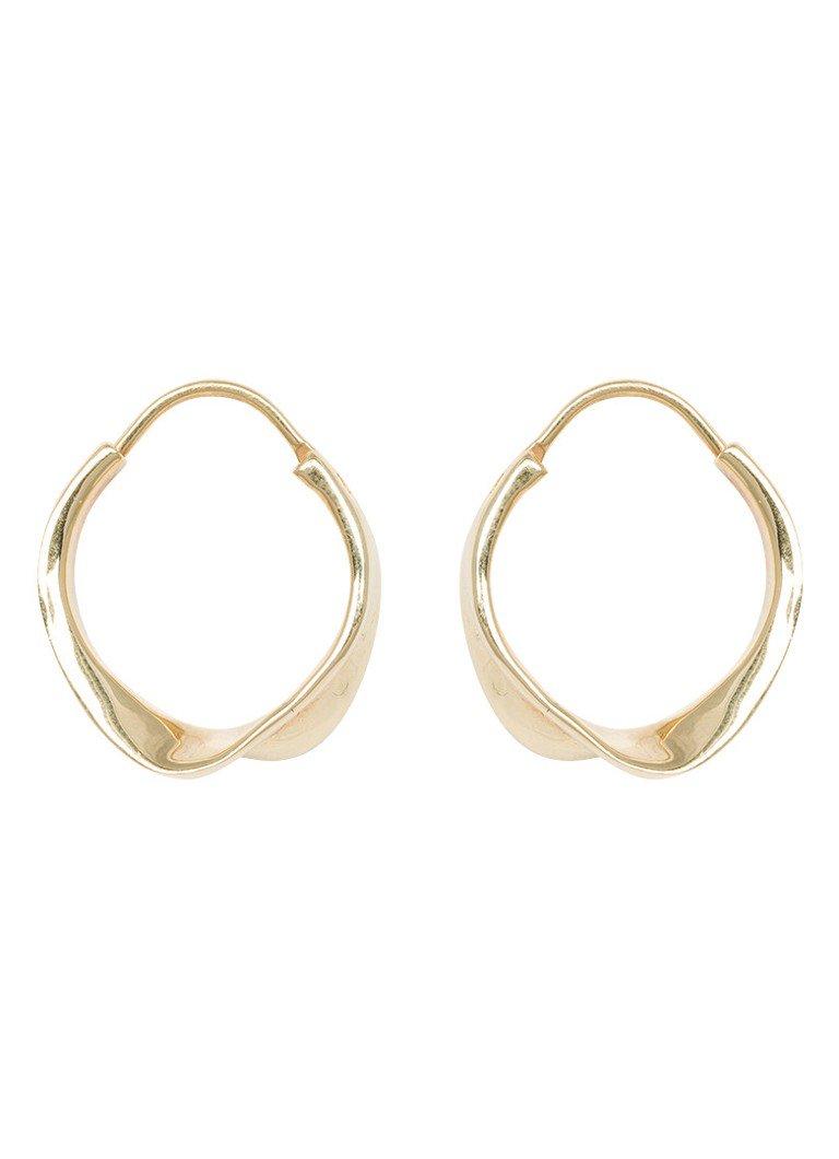 Anna + Nina Twirl oorringen met gouden plating