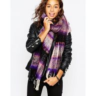 ASOS Brushed Pretty Check Scarf
