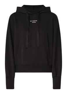 Cropped hoodie met buidelzak
