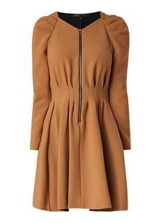 Rangia geplisseerde midi-jurk met ritssluiting