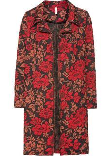 Dames jas lange mouw in rood