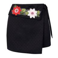 Flower Skirt - Black