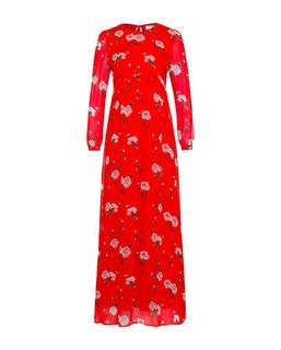 Chiffon Maxi Dress Lovers Red