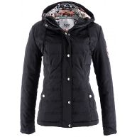 Dames jas lange mouw in zwart - bpc bonprix collection