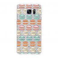 Samsung Galaxy S7 Edge Hardcase hoesje transparant Macaron Party