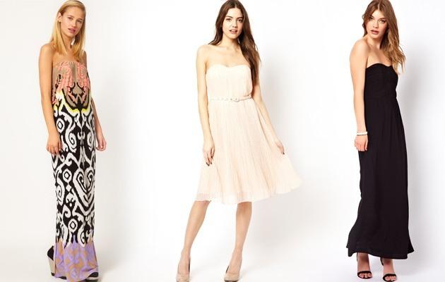 Strapless jurken combineren