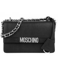 Moschino Schoudertassen - Logo Chain Crossbody Bag Black in zwart voor dames