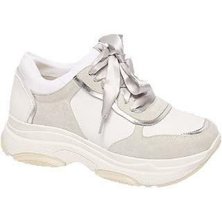 Lichtgrijze chunky sneaker lint veter