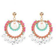 Multicolored Marmer Earrings