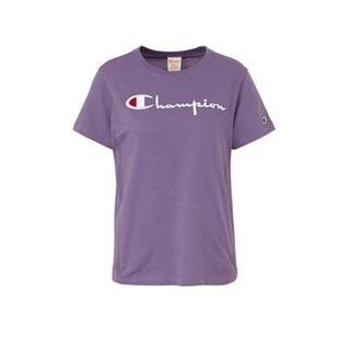 T-shirt met logo paars