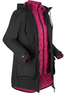 Dames 3-in-1 outdoor jas met bodywarmer in zwart