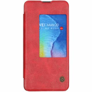 Qin Leather Slim Booktype voor Huawei Mate 20 - Rood