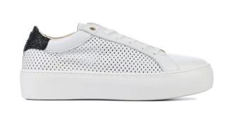 Dames Sneakers in Leder (Wit)