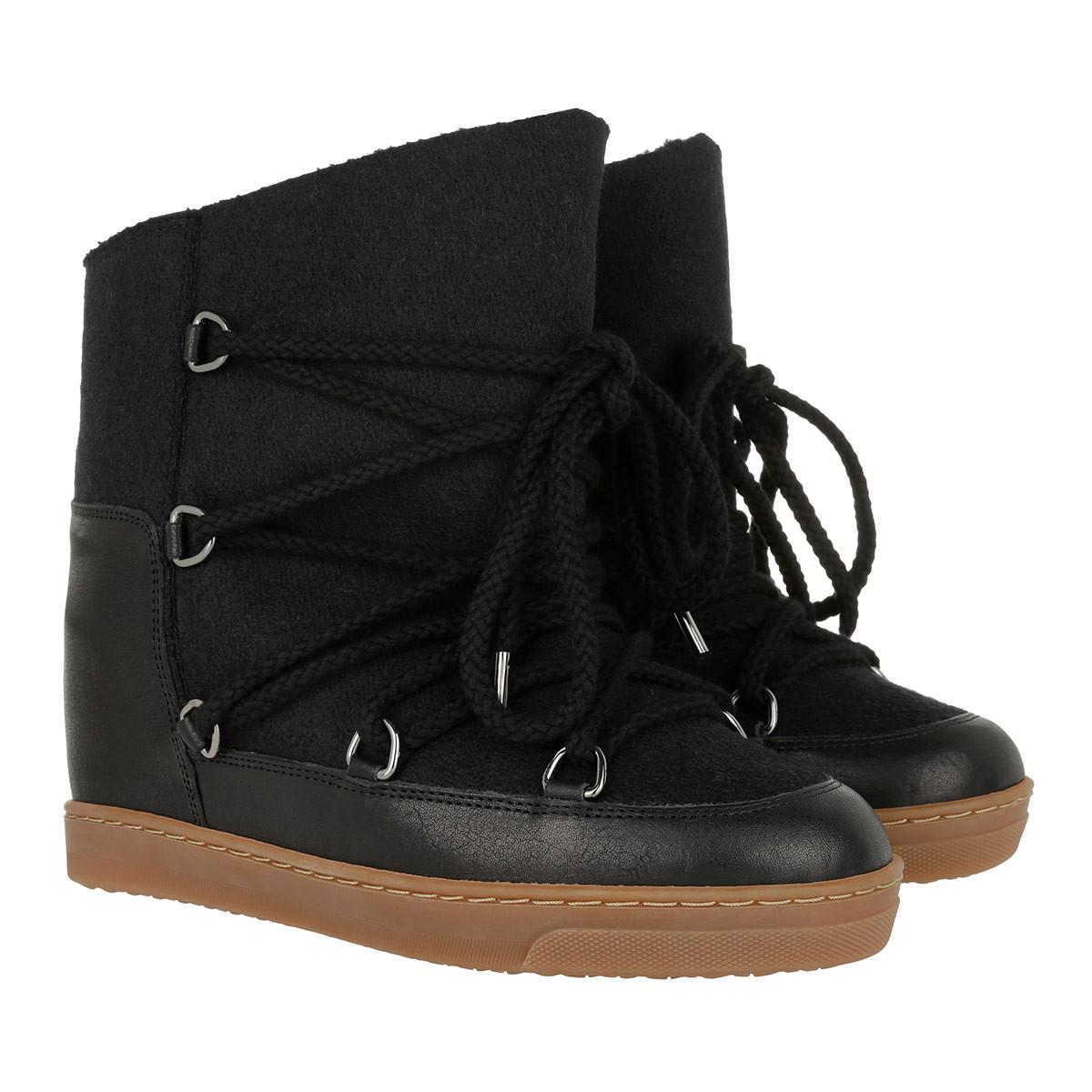 Isabel Marant Étoile Laarzen & Laarsjes - Nowles Snow Boots Flannel Carry Over Anthracite in grijs, zwart voor dames