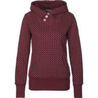 Ragwear Chelsea Dots W hoodie bordeaux rood