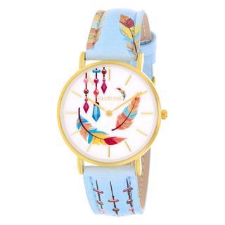 horloge met multicolor leren band
