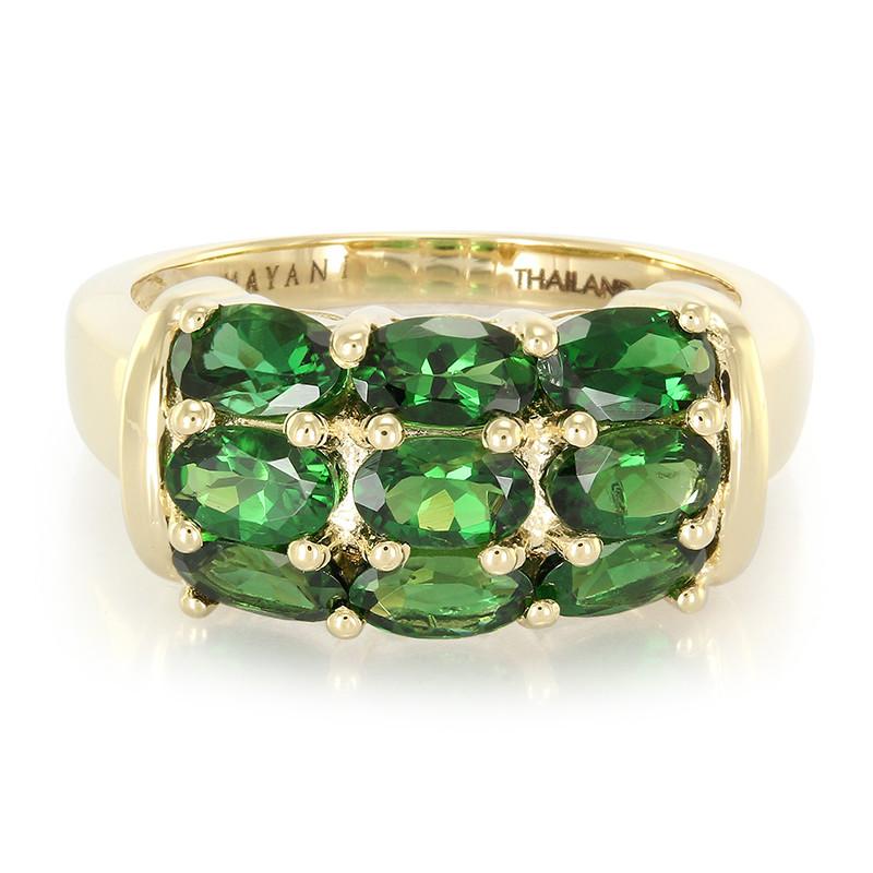Amayani Gouden ring met kijzerliijke chroom toermalijnen Krijgen Authentieke Outlet Online Winkelen JNFg7KG2