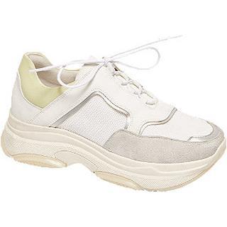 Lichtgrijze chunky dad sneaker