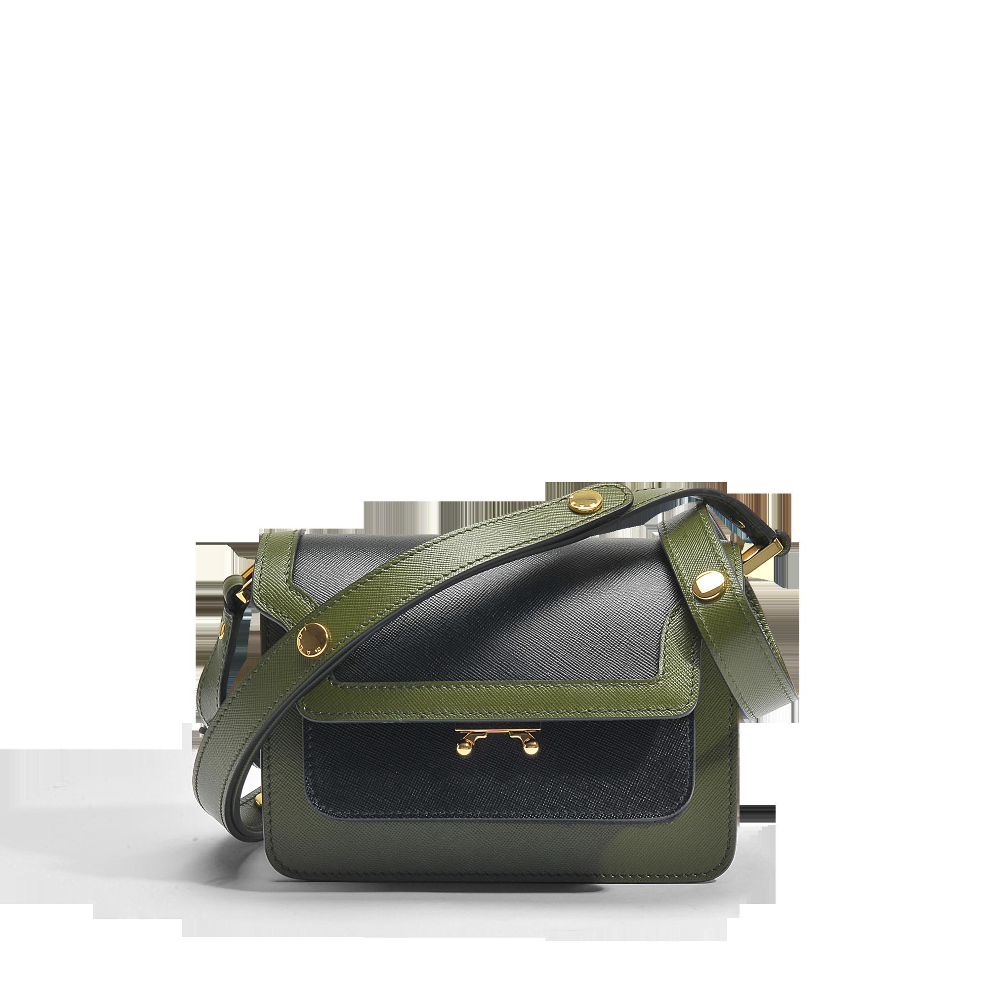 Marni Mini Trunk Bag in Black and Olive Green Saffiano Leather Outlet Prijzen Gratis Verzending Best Groothandel Kopen Goedkope 2018 aarFaZaEI