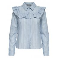ONLY Franje Overhemd Met Lange Mouwen Dames Blauw
