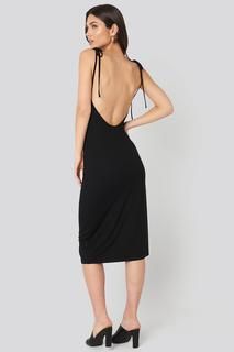 Open Back Shift Midi Dress