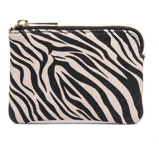 Suede portemonnee zebra print