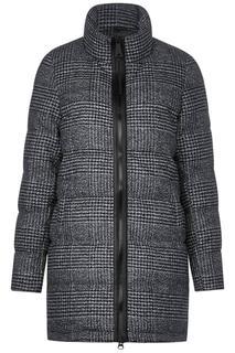 Gewatteerde jas met ruitenmotief