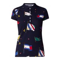 Tommy Hilfiger New Chiara polo met vlaggendessin