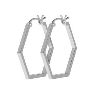 CLUSE CLJ52004 - Essentielle Silver Hexagonal Oorhangers
