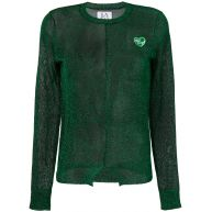 Zoe Karssen sheer glitter sweater - Green